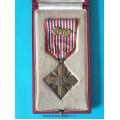 Československý válečný kříž 1939 - LONDÝNSKÉ VYDÁNÍ - 1x lipová ratolest , původní originální etue - varianta-a