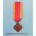 Závěsná miniatura na stužce - Československý Válečný kříž 1914 - 1919