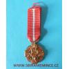 Miniatura - Československá revoluční medaile - var. světlá bez podpisu