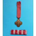 Miniatura na stužce - Československý Válečný kříž 1914 - 1919