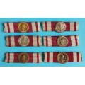 """NSG  miniatury na stužce ke """" Služebním medailím"""" typ 1927-39"""