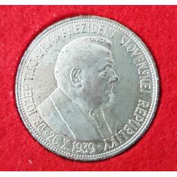 20 koruna 1939 Dr. Josef Tiso na paměť jeho zvolení prvném prezidentem Slovenské republiky - Ag