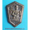 Odznak NÁRODNÍ GARDA 53 Košice 20.VI.1937 a věnování stuhy 32. pěší pluk Gardský - postříbřený