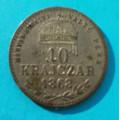 10 krajczár 1868 KB - MAGYAR KIRALYI - VALTO PENZ