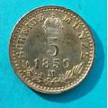 5 krejcar 1859 M