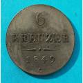 6 krejcar 1849 C