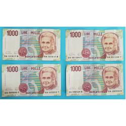 Itálie 1000 lir 1990 různé serie