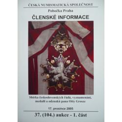 ČNS Praha - 37. (104.) aukční katalog - 1.část - 2005