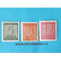 Německo - Sovětská Zóna - Sachsen 1945 - 5 , 8 , 12 pfennig