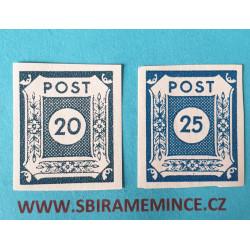 Německo - Deutsche Post - Sovětská zóna - 20 + 25  pfennig - Ost Sachsen