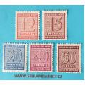Německo Deutsche Post - Sovětská Zóna - Sachsen 1945 - 12 pfennig červená - 15 pf - 20 pf - 40 pf - 60 pf