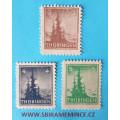 Německo Deutsche Post - Sovětská Zóna - Thüringen - 3 + 4 + 5 pfennig