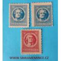 Německo Deutsche Post - Sovětská Zóna - Thüringen - 12 Schiller + 20 + 20  pfennig Goethe