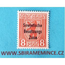 Německo Deutsche Post - Sovětská Zóna - Berlin a Brandenburg 8 pfennig 1945