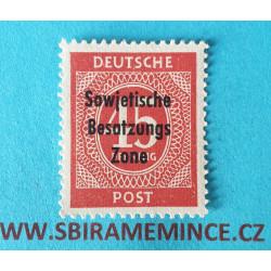 Německo Deutsche Post - Sovětská Zóna - Berlin a Brandenburg 45 pfennig 1946