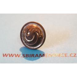 Četnictvo - Knoflík na brigadýrku - uniformní knoflík - stříbrný ČS - SUPERIOR - průměr 15mm