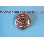 Četnictvo - Knoflík na uniformu - uniformní knoflík - stříbrný ČS - SUPERIOR QUALITY - průměr 15mm