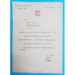 Povolání do činné služby 1947