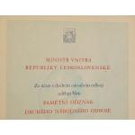 Dekret Pamětní medaile druhého národního odboje podpis Nosek N-35