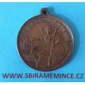 Rakousko-Uhersko - František Josef I. - bronzová medaile na Jubilejní střelby Vídeň 1898