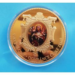 Pozlacená medaile Svatý Václav - PROOF - 70mm