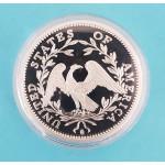 Postříbřená replika - USA - Floving Hair Liberty Dollar 1794 - PROOF - 40mm