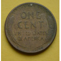 1 (one) cent Lincoln 1956 D - Cu