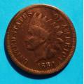1 ( one ) cent 1880 indián - Indian Head