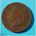 1 ( one ) cent 1887 indián - Indian Head