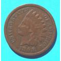 1 ( one ) cent 1898 indián - Indian Head
