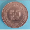 Singapur 50 cents 1982
