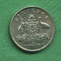 Austrálie six pence Elizabeth II. 1958 - Ag