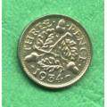 Anglie 3 pence Georgius V. 1934 C - Ag