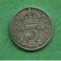 Anglie 3 pence Georgius V. 1918 - Ag