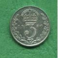Anglie 3 pence Georgius V. 1926 - Ag
