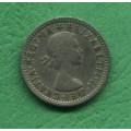 Anglie 6 (six) pence Elizabeth II. 1954 EFCT - CuNi