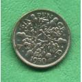Anglie 6 (six) pence Georgius VI. 1930 KG - Ag