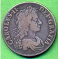 Crown 1671 Carolus II. - vzácný - RR