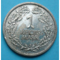 Výmar - 1 reichsmark 1927 J - Ag