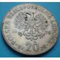 Polsko 20 zlotý Nowotko 1976 - CuNi