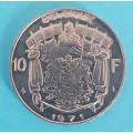 Belgie 10 frank 1971