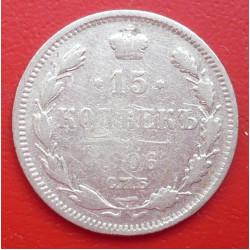 15 kopějek 1906 EB CPB - Ag