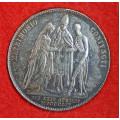 Půltolar - Zlatník 1854 A - pamětní svatební- Ag
