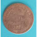 FJI 10 krajcár 1870 KB - Ag
