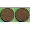 FJI - 3 centesimi 1852 V - Br