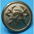 Hasič - velký knoflík do roku 1948 - průměr 24 mm , zlatý