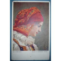 K. V. Muttich - Děvče z Uherského Brodu - kroj - prošlá 1913