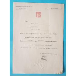 Povolání do vojenské činné služby 1946