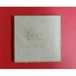 Originální značená etue ČSAD n.p.Ostrava na odznak nebo medaili