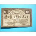 Rakousko Gutschein 10 Heller Steyr